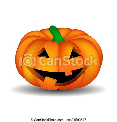 Halloween Background with Pumpkin Vector Illustration - csp21593547