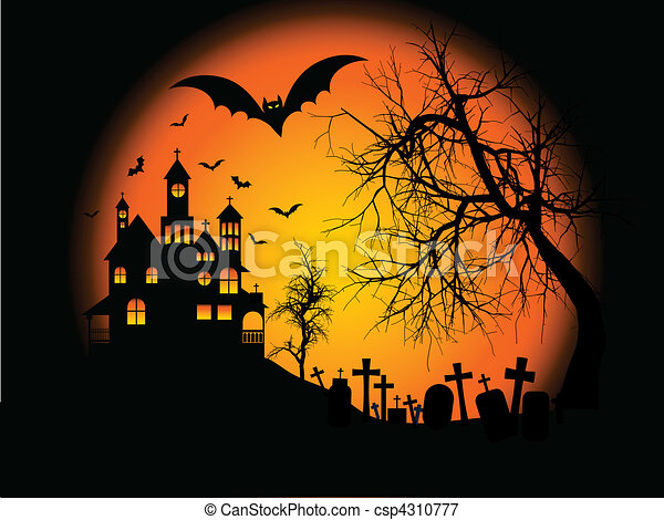 halloween, bakgrund - csp4310777