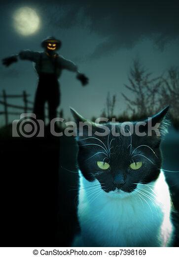 halloween, bakgrund - csp7398169