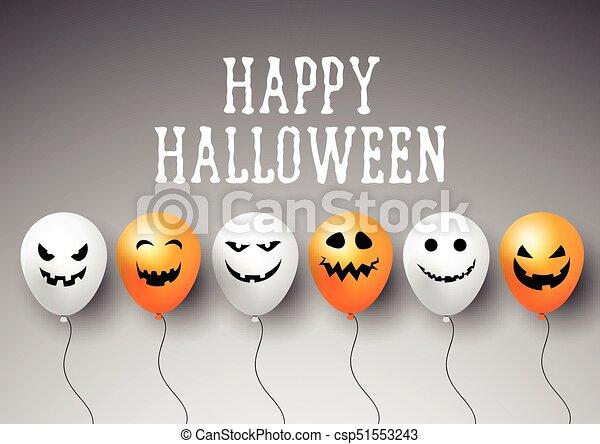 Halloween balloons background - csp51553243