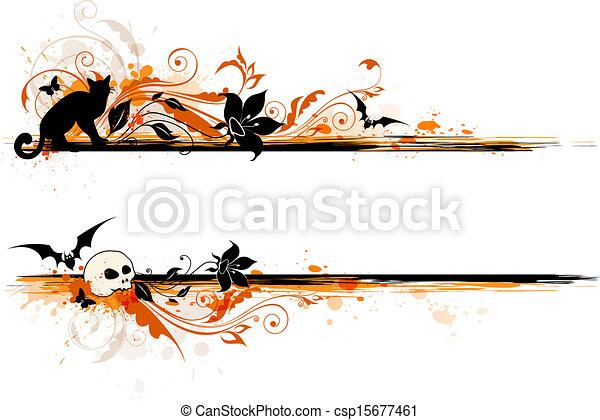 El estandarte de Halloween - csp15677461