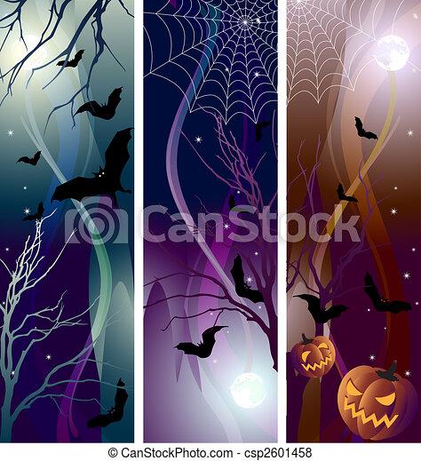 El estandarte de Halloween - csp2601458