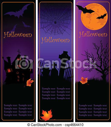 Estandartes de Halloween - csp4664410