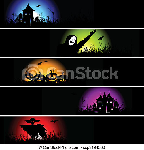 Halloween Banner für Ihr Design - csp3194560