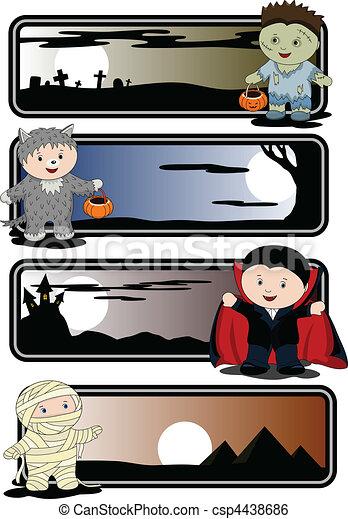 Halloween banners - csp4438686