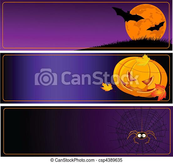 Halloween Banners - csp4389635