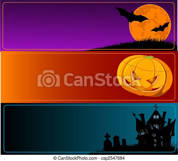 Halloween Banners - csp2547684