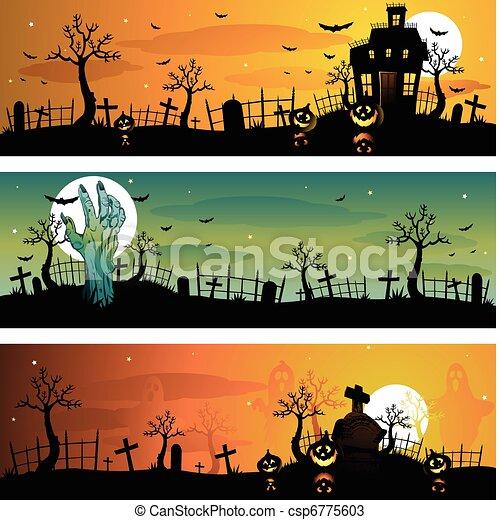 Halloween banners - csp6775603