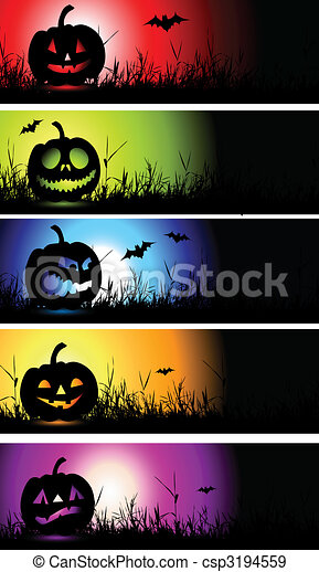 Halloween banners for your design - csp3194559