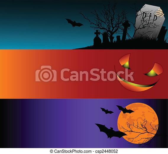 Halloween Banners - csp2448052