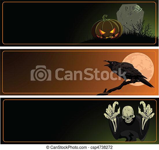 Halloween Banners - csp4738272