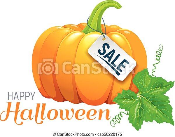 Halloween beautiful pumpkin sale - csp50228175