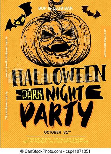 Halloween Boo poster - csp41071851