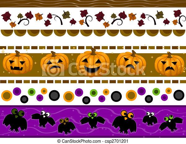 Halloween borders. Halloween border set clipart - Search ...
