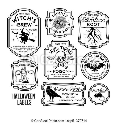 picture regarding Free Printable Halloween Poison Bottle Labels identified as Halloween Bottle Labels