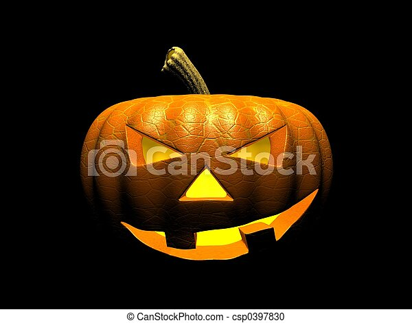 Calabaza de Halloween - csp0397830