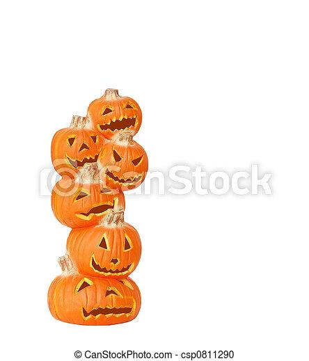 Pantalla de calabaza de Halloween - csp0811290