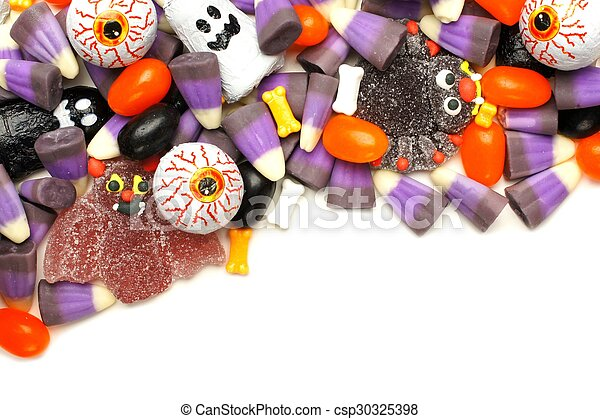 Halloween candy border - csp30325398