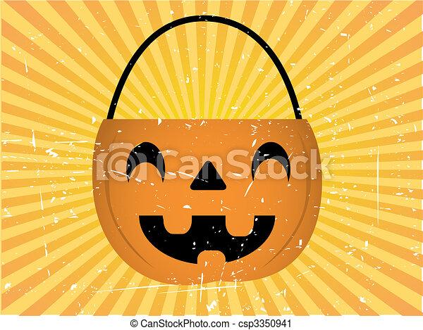 Halloween Candy Holder Background - csp3350941
