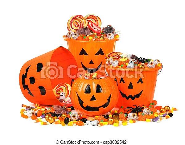 Halloween candy pails - csp30325421