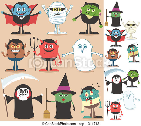 halloween, caratteri - csp11311713