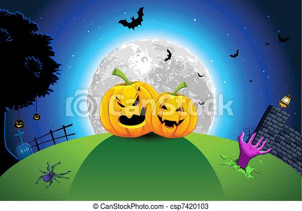 Halloween Card - csp7420103
