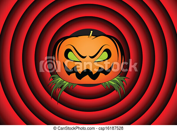 Halloween Movie Pumpkin Drawing.Halloween Card With Pumpkin
