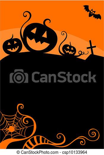 halloween, carte - csp10133964