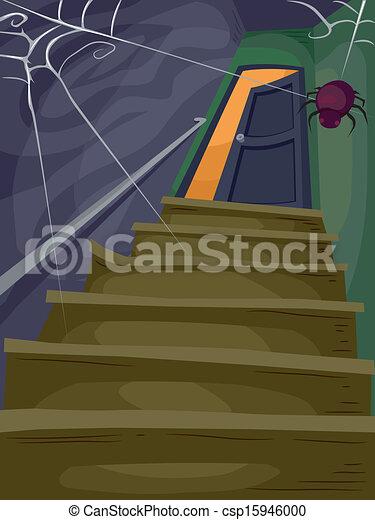 Casa de Halloween - csp15946000