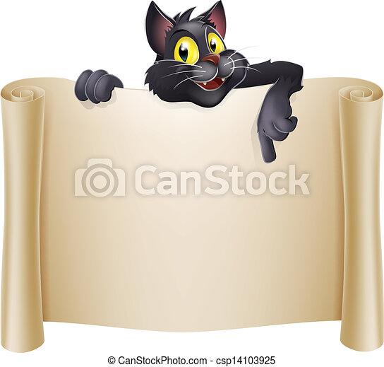 Halloween Cat Banner - csp14103925