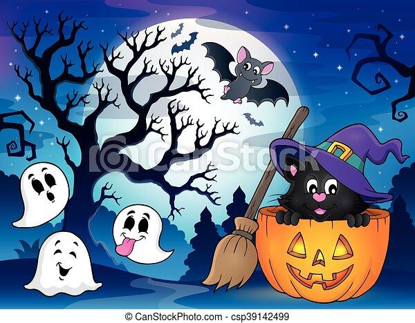 Halloween cat theme - csp39142499