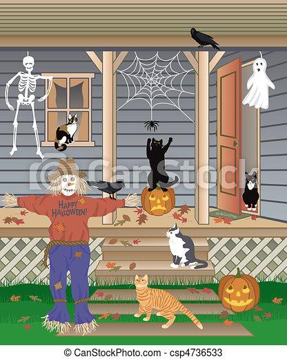 Halloween Cats - csp4736533