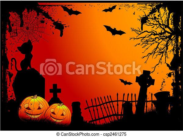 Cementerio de Halloween - csp2461275