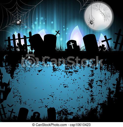 Cementerio de Halloween - csp10610423