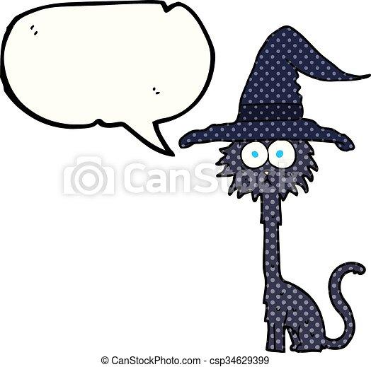 Halloween Chat Livre Parole Comique Bulle Dessin Anime