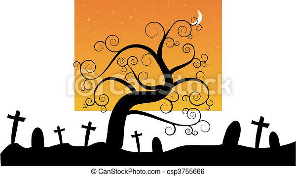 Halloween Cimetière Nuit