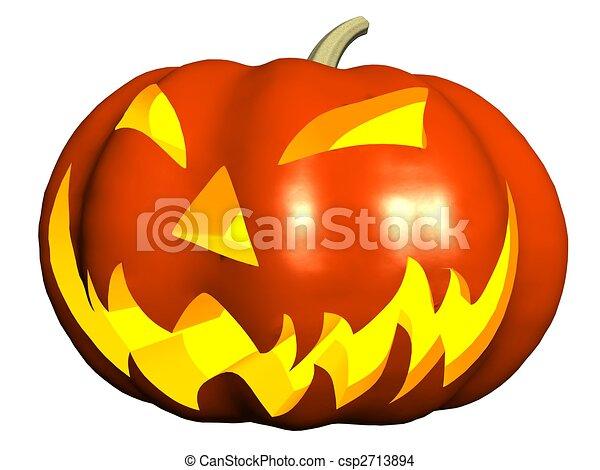 Dessin de halloween citrouille isolated render de halloween csp2713894 recherchez - Citrouille halloween dessin couleur ...