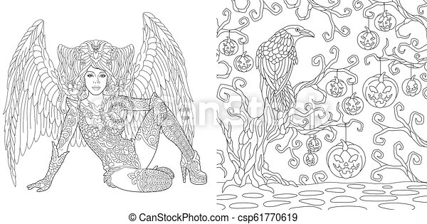 Winged Wolf Coloring Pages - GetColoringPages.com | 241x450