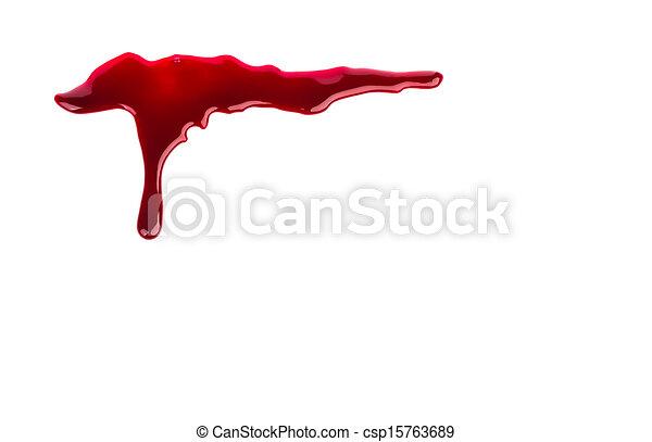 Halloween concept : Blood dripping - csp15763689