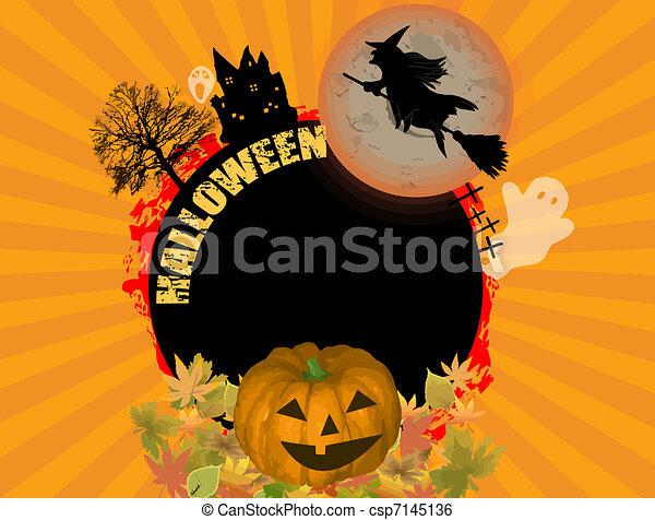 Halloween concept - csp7145136