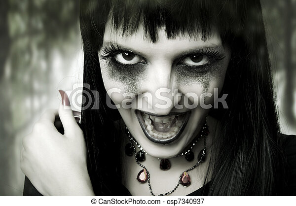Halloween concept. Fashion portrait of woman - csp7340937