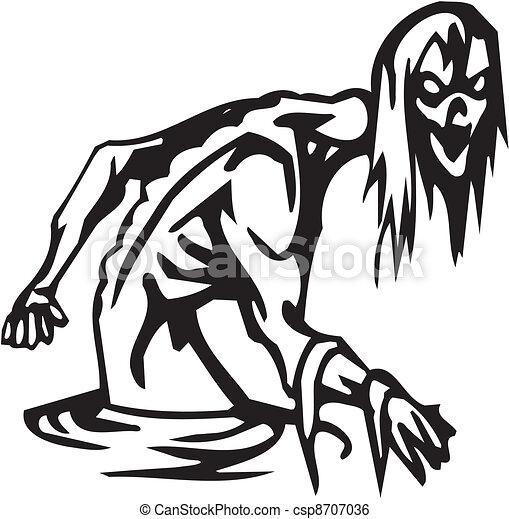 Noche de Brujas: ilustración del vector - csp8707036