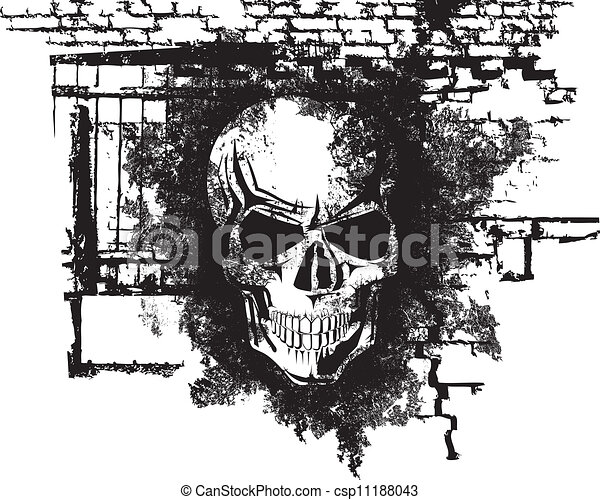 halloween, crâne humain - csp11188043
