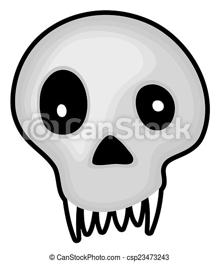 halloween creepy skull mask csp23473243 - Cartoon Halloween Drawings