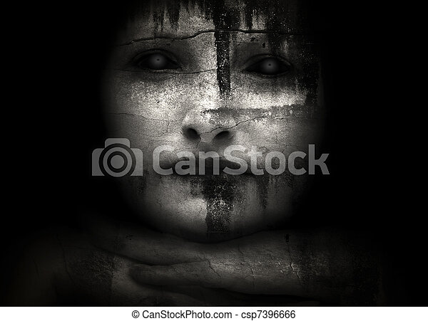 Halloween creepy women - csp7396666