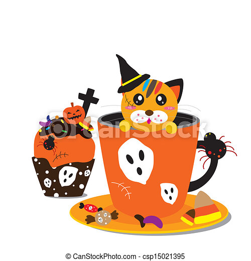 Halloween cupcake and coffee design eps vectors - Search ...