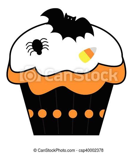 Halloween Cupcake - csp40002378
