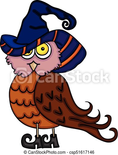 Scalable Vectorial Image Representing A Halloween Cute Owl Isolated On White