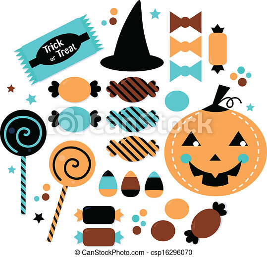 halloween cute sweet candy set isolated on white halloween rh canstockphoto com halloween vector files halloween vector patterns