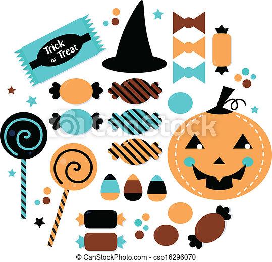 halloween cute sweet candy set isolated on white halloween rh canstockphoto com halloween vector art free halloween vector patterns